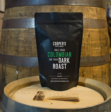 Whole beans so you can grind to how you 12 oz. Colombian Dark Roast Coffee Beans, Micro Lot Single Origin Whole Bean - Cooper's Cask Coffee Company