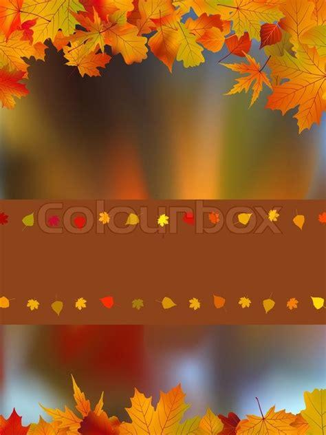 card   bright autumn stock vector