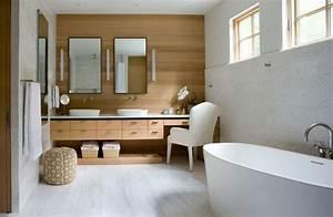 Décoration Murale Salle De Bain : 30 id es d co des accents en bois pour votre salle de bains ~ Teatrodelosmanantiales.com Idées de Décoration