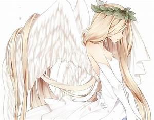 Imagem de anime, angel, and sad | Penteados | Pinterest ...
