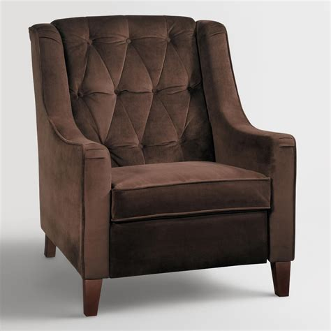 chocolate velvet tufted high back chair world