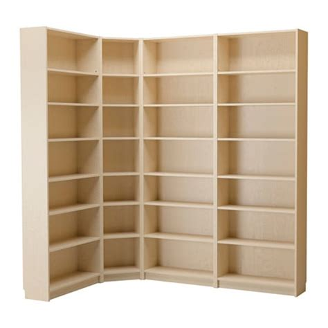 corner bookshelf ikea billy bookcase birch veneer ikea
