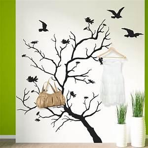 Porte Manteau Mural Arbre : stickers porte manteau arbre oiseaux pas cher ~ Preciouscoupons.com Idées de Décoration