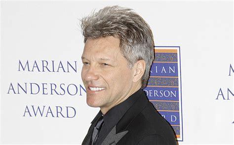 Hair Metal Jon Bon Jovi Sports New Grey Look Telegraph