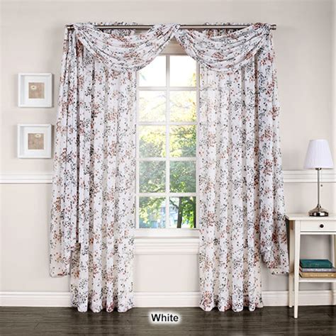 Crushed Voile Curtains Tree Shop by Athena Crushed Voile Floral Panel Boscov S