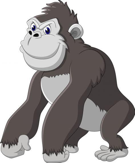 Desenho de gorila engraçado Vetor Premium