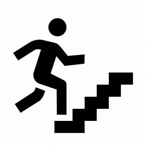 man walking up stairs clipart white png - Clipground