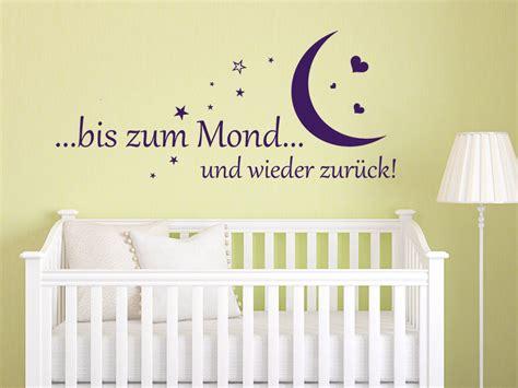 Wandtattoo Kinderzimmer Sprüche by Wandtattoo Bis Zum Mond Und Wieder Zur 252 Ck Wandtattoo De