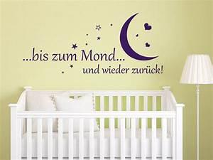 Wandtattoo Für Babyzimmer : wandtattoo bis zum mond baby spruch von ~ Markanthonyermac.com Haus und Dekorationen