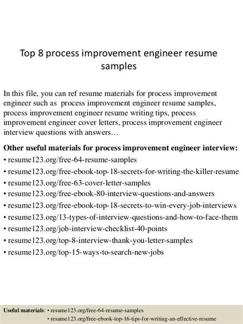top  process improvement engineer resume samples