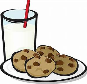 Royalty Free Cookies And Milk Clip Art, Vector Images ...