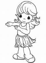 Coloring Pages Precious Moments Hula Fun Hi sketch template