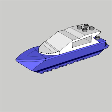 How To Build A Lego Boat by Fichier Stl Lego Boat Bateau Duplo Cults