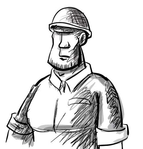 american soldier cartoon sketch drawingsketching