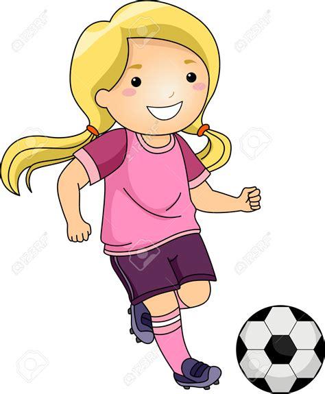 girl soccer player clipart    girl
