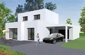 cool gorgeous modele maison moderne modle de maison jasmin With modele facade maison moderne