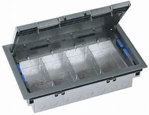 Cav485 legrand floor box 4 compartments 340 mm x 023m for 4 compartment floor box