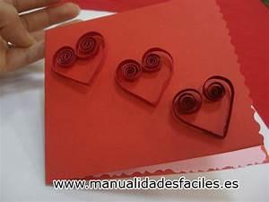 Tarjeta en filigrana de san valentin Manualidades faciles