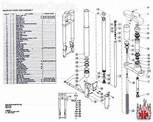 Inverted Front Ends Parts List