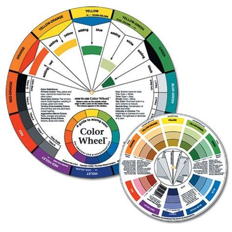 pocket color wheel artist mixing guide watercolor paint
