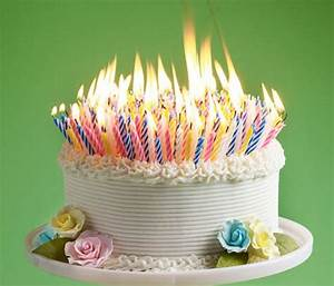 40th Birthday Cake Candles - A Birthday Cake