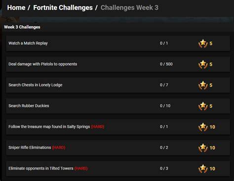 fortnite season  week  challenges   leaked