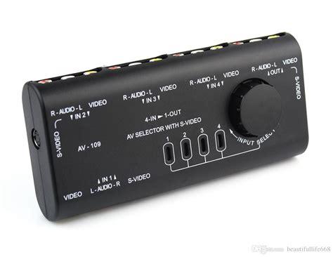 Harga Switcher Rca 4 in 1 out av rca switch box av audio signal