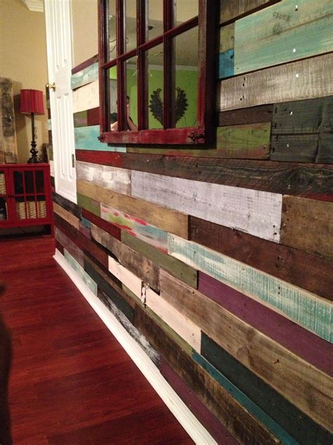 My Reclaimed Wood Wall Made From Pallets My Friend And I