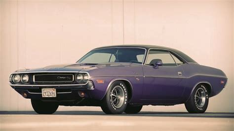 Vintage Muscle Cars Vehicles Dodge Challenger Rt 70s Old