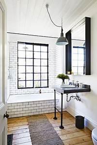 du carrelage blanc dans la salle de bain c39est zen With carrelage salle de bain vintage