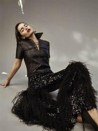 Clarke Emilia Magazine Flaunt Brunette Issue December