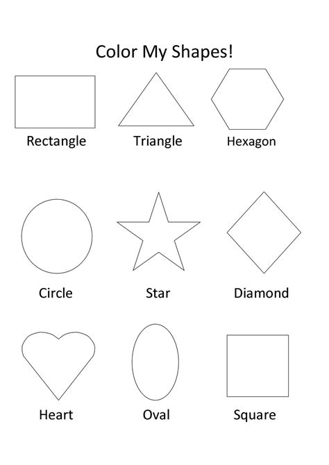 color my pictures free printable shapes coloring pages for