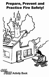 Fire Safety Dog Coloring Pages