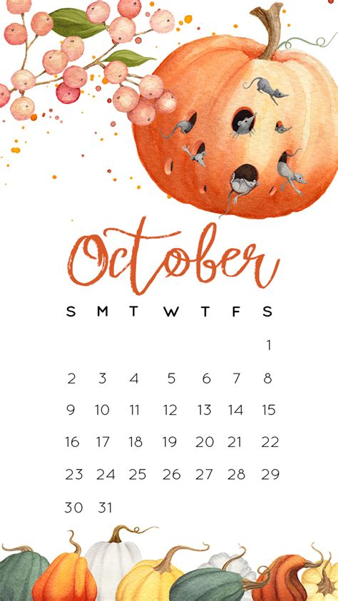 october  calendar printables  tech pretties