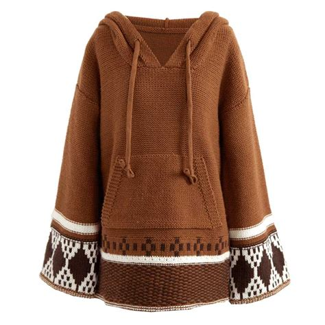 Boho Inspired Hooded Sweaters Women Long Sleeve Pullovers