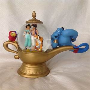 RARE Disney Aladdin GINNIE MAGIC LAMP Musical Figurine ...