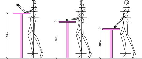 measurements ergonomics for table and chair