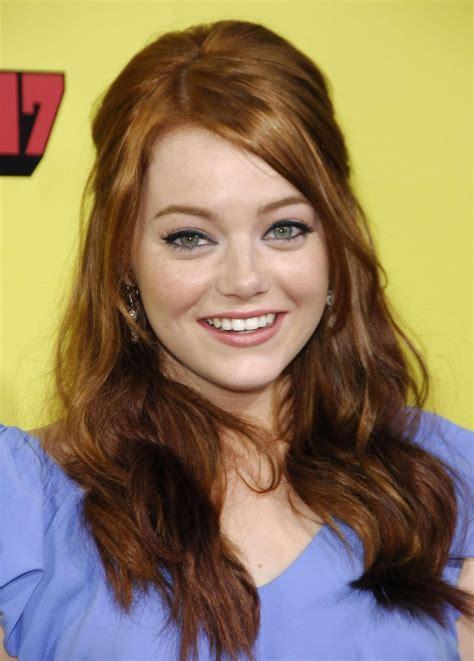 Emma Stone Wavy Red Hair