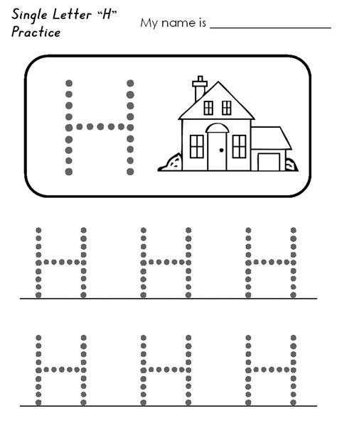 collection of letter h tracing worksheets preschool free worksheets sles