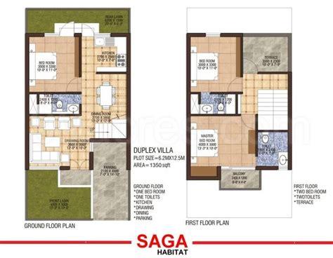 sq ft duplex house plans  india arts dada