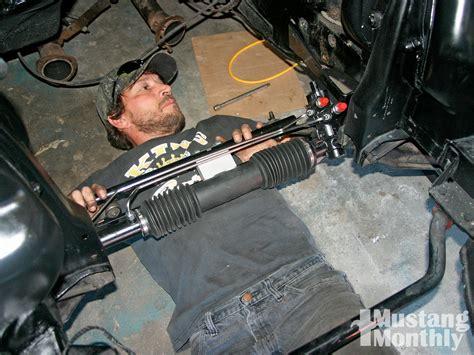 install rack  pinion steering