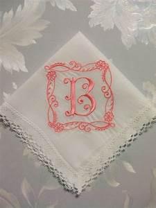 custom embroidered letter initial monogram for bride With custom embroidered letters