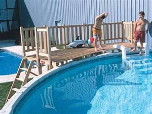 terrasse double pour piscine hors sol hauteur piscine 1 With barriere de securite piscine beethoven 15 plan en coupe piscine
