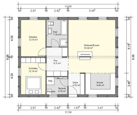 Grundriss Bungalow 3 Zimmer by Bg1 Bungalow Grundriss 90qm 3 Zimmer Grundrisse