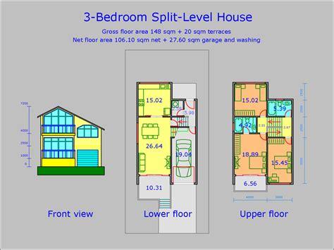 split level bedroom apartments 2 bedroom split level house plans 3 bedroom 2