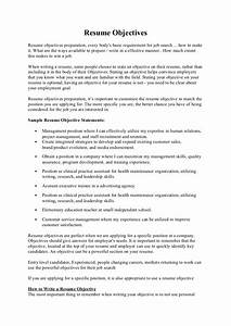 Objective Example On A Resumes Resume Objectives