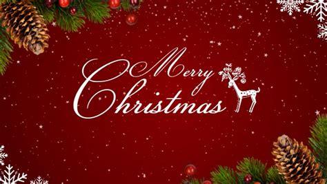 christmas celebration facebook cover video template