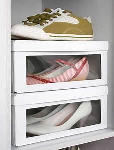 Boite à Chaussures Transparentes : rangement chaussures dans bo tes chaussures transparentes ~ Dailycaller-alerts.com Idées de Décoration