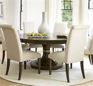 California, Rustic, Oak, Expandable, Round, Dining, Table, 64, U0026quot