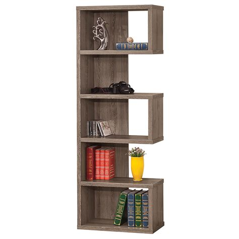 Contemporary Bookcases And Shelves by Modern Shelving Dallas Bookcase Weathered Gray Eurway